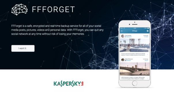 Aplikasi FFForget dari Kaspersky